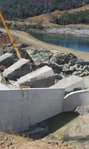 photo of Oroville Dam Emergency Spillway Repair Conet project