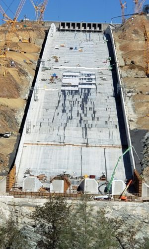 photo of Oroville Dam Conjet project from Hydropressure Cleaning, Inc.