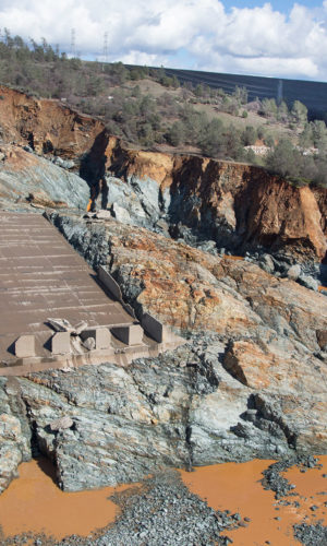 photo of Oroville Dam Emergency Spillway Repair Conjet project