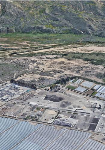 photo of DrumJet high-pressure water cleaning at Santa Paula Asphalt Plant