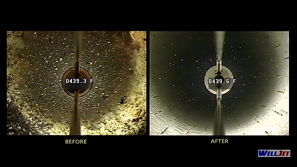 photot WellJet Pre- & Post-Treatment Downhole Comparison from Hydropressure Cleaning, Inc.